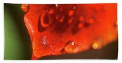 Tulip Leaf Droplets-2209 Hand Towel