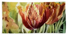 Tulip Light Hand Towel by Mindy Newman