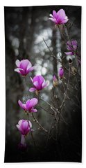 Tulip Magnolia Tree Art II Bath Towel