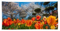 Tulip Panorama Hand Towel by Inge Johnsson