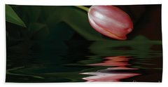 Tulip Reflections Bath Towel