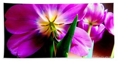 Tulip Time Hand Towel by Tim Townsend