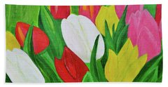 Bath Towel featuring the painting Tulips 2 by Magdalena Frohnsdorff