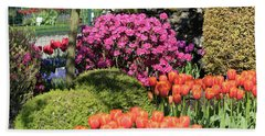 Tulips And Rhodies Hand Towel
