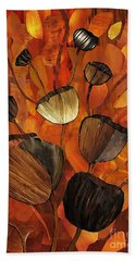 Tulips And Violins Bath Towel by Sarah Loft