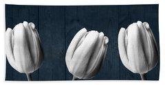 Tulips And Wood Bath Towel