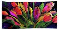 Tulips Bath Towel by DC Langer