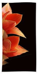 Tulips Dramatic Orange Montage Bath Towel