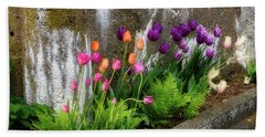 Tulips In Ruin Bath Towel