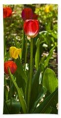 Tulips In The Garden Bath Towel