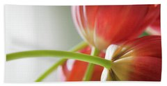 Tulips In The Morning Bath Towel by Theresa Tahara