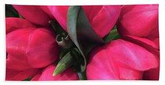Tulips-macro Bath Towel