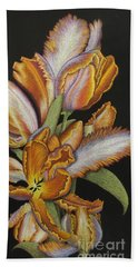 Tulips Of Fire Bath Towel
