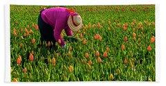 Tulips Picker Hand Towel