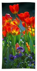 Tulips Bath Towel by Robert Meanor