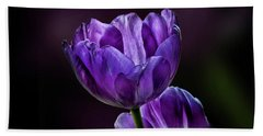Tulips Hand Towel by Shirley Mangini