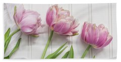 Hand Towel featuring the photograph Tulips Three by Kim Hojnacki