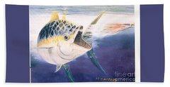 Tuna To The Lure Bath Towel by Bill Hubbard