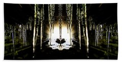 Tunnel Icicles Reflection Hand Towel