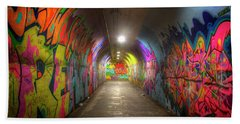 Tunnel Of Graffiti Hand Towel by Mark Andrew Thomas