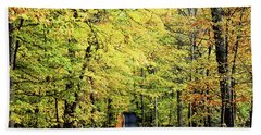 Tunnel Of Trees Hand Towel