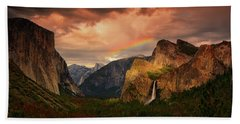 Tunnel View Rainbow Bath Towel