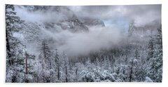 Tunnel View Yosemite National Park Ansel Adams Bath Towel