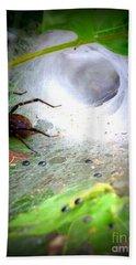 Tunnel Web  Bath Towel by Christy Ricafrente