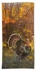 Turkey In The Woods Hand Towel