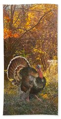 Turkey In The Woods Bath Towel