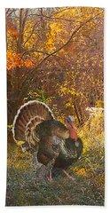 Turkey In The Woods Bath Towel