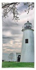 Turkey Point Lighthouse Bath Towel