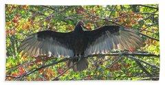 Turkey Vulture In Our Tree Bath Towel