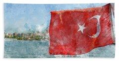 Turkish Flag Hand Towel