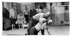 Turkish Wrestlers 1904 Bath Towel