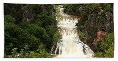 Turner Falls Waterfall Hand Towel