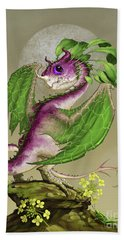 Hand Towel featuring the digital art Turnip Dragon by Stanley Morrison
