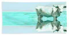 Hand Towel featuring the photograph Turquoise And Steer by Amanda Smith