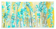 Turquoise And Yellow Hand Towel