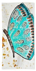 Turquoise Butterfly Hand Towel