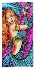 Turquoise Dancer Bath Towel