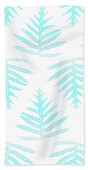 Turquoise Fern Array Bath Towel