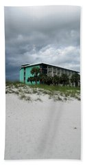 Turquoise On The Beach Hand Towel by Tony Grider