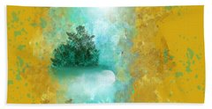 Turquoise River Bath Towel by Jessica Wright