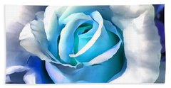 Turquoise Rose Hand Towel
