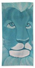 Turquoise Lion Hand Towel