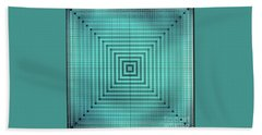 Turquoise Square Hand Towel