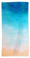 Turquoise Waters Hand Towel by Karyn Robinson