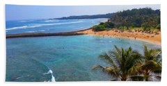 Turtle Bay Lagoon Hand Towel by Michael Rucker