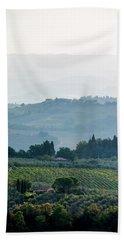 Tuscan Afternoon Hand Towel by Jean Haynes